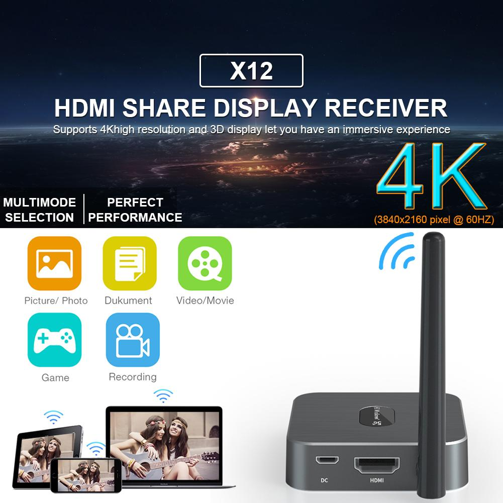 HD Mobile TV 5G Wireless Screen With High-speed Stable Signal PVC HDMI Black Screen For TVs Monitors Projectors