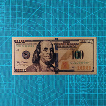 Банкноты американского золота с золотым покрытием, 10 шт., 100 доллара, ценный коллекционный сувенир