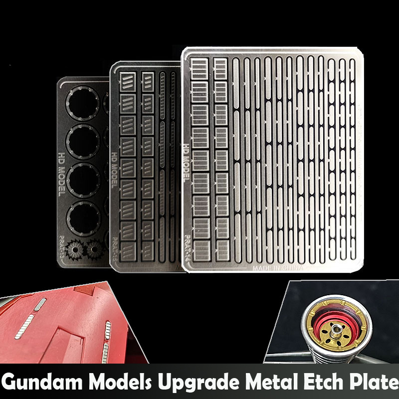 Gundam Models Detail Upgrade Metal Etch Plate Kit 13-18 Models Hobby Transform Accessory
