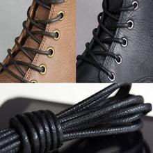 8 Colors 75-85cm 1Pair fashion casual leather shoelace Multi Color Cotton Waxed Round shoe laces