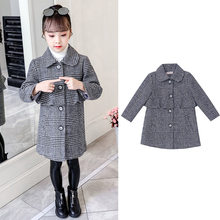 Get more info on the 2019 Winter Girls Cotton Long Falbala Jackets Kids Outerwear Clothes Children Clothes Casual Turn-down Collar Thick Woolen Coat