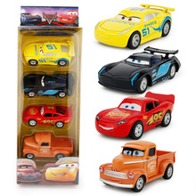 4 PCS A Set Children Cute Plastic Car Metal Alloy Model Toy Colors Pull-back Fashional Cool Gift For Birthday