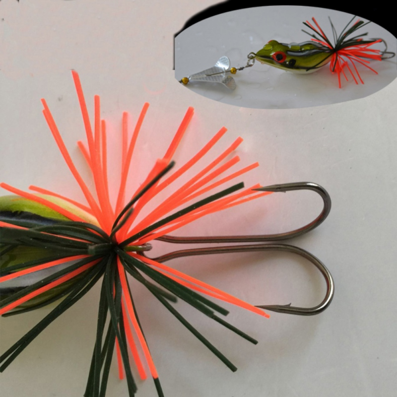1PCS Fishing Lure With Propeller Large Noise Isca Frogs Lure  Pesca Frogs Sinking Snakehead  Fishing Bait 135mm 9g ZJ 5