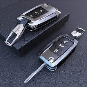 Image 5 - Yeni alaşım anahtar kapağı kılıfı Volkswagen VW TIGUAN Golf Skoda Octavia için araba kılıflı anahtar koruma aksesuarları