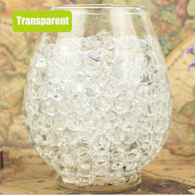 100 PCS/Set Pearl Shaped Crystal Soil Water Beads Mud Grow Magic Jelly Balls Home Decor Aqua Soil Hot Wholesales