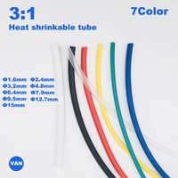 2m 1.6-30mm Dual Wall thick Glue 3:1 ratio Shrinkable Tubing Adhesive Lined Wrap Wire kit heat shrink tube