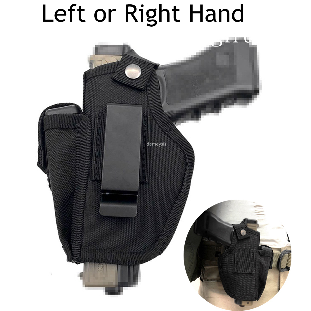 Right or Left Hand Concealed Carry Gun Holster for Glock 19 17 26 27 43 S&W M&P Shield 9/40 1911 Taurus PT111 G2 Sig Sauer Ruger(China)