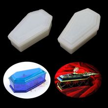 DIY Vampire Coffin Resin Casting Storage Box Mould Silicone Coffin Box Mold Resin Casting Craft Halloween Jewelry Tools