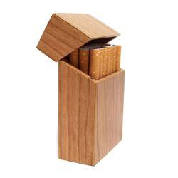 Caixa de cigarro madeira com madeira de jacarandá e cereja & bambu cigarro caso novo criativo clamshell