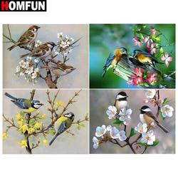 HOMFUN 5d Diamond Painting Full Square/Round 'Bird flower painting