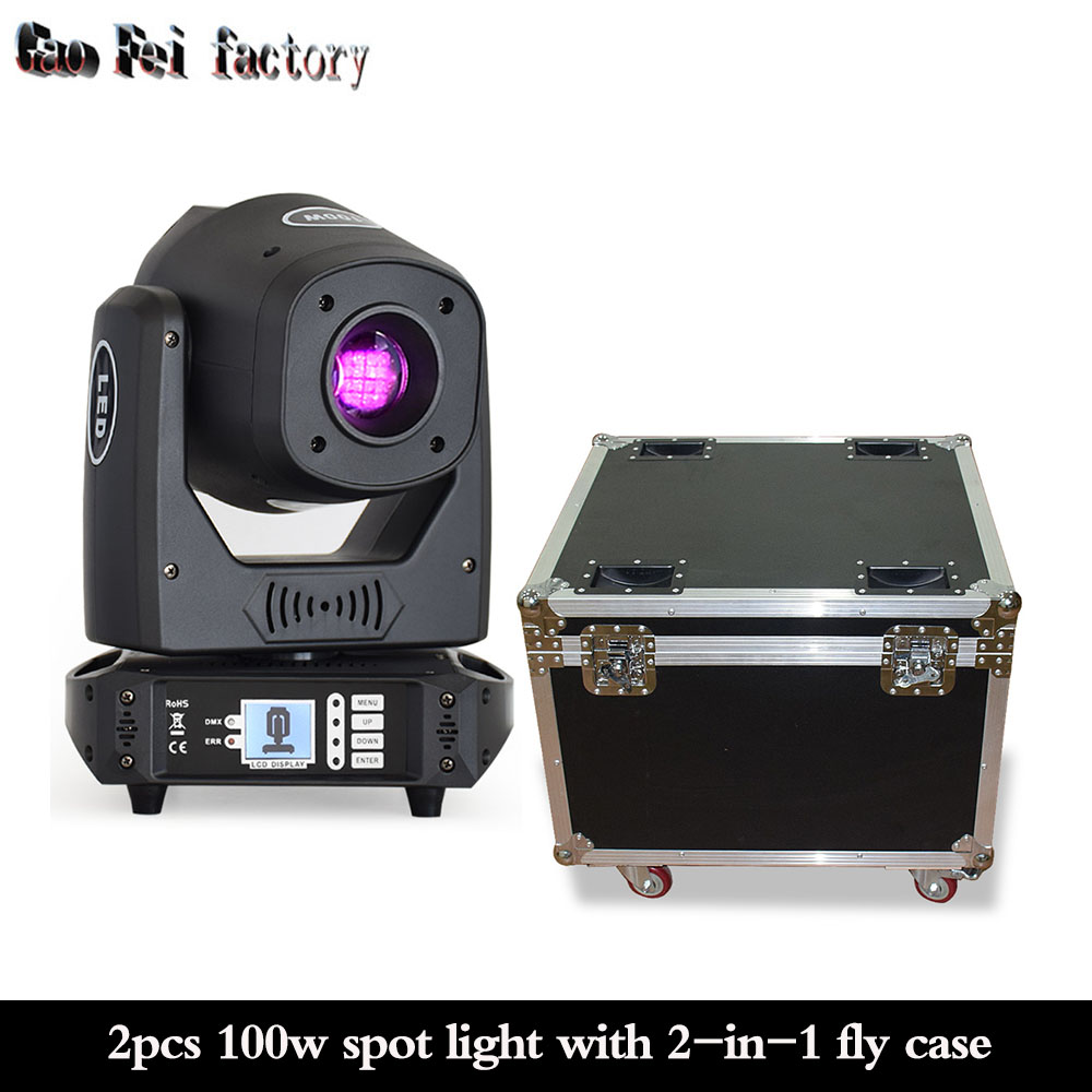 Moving Head Flight Case With Dj Led 100w Spot Moving Head Prism Effect Dmx Led Stage Light For Disco Lamp