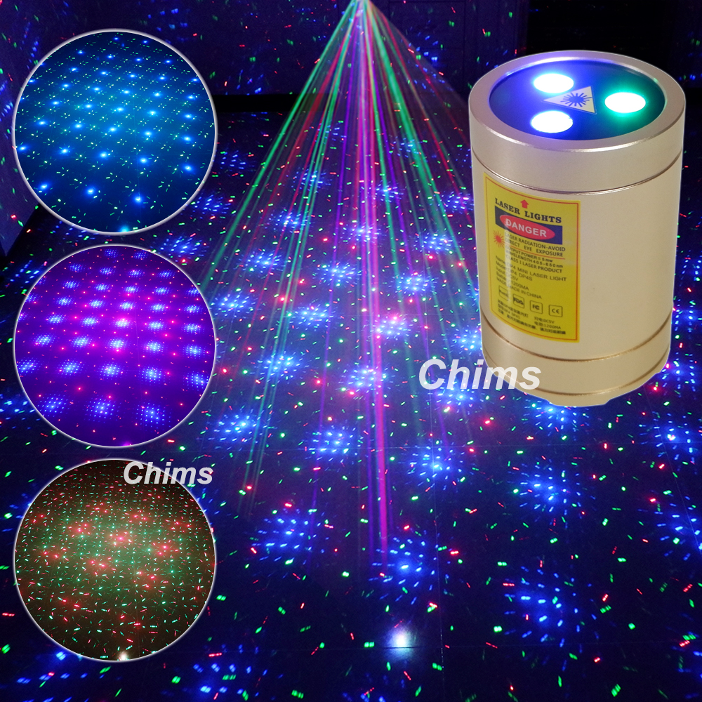 Chims Mini Party Laser Light Disco Karaoke Outdoor Home Lights Battery Operated Portable RGB Meteor Star Projector Lighting