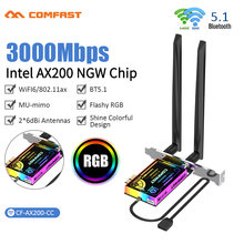 3000M Wifi Kaart Dual Band 802.11AX Wifi6 AX200 Bluetooth 5.1 Draadloze Adapter Pci-E Networking Pci Express Voor Windows 10 pc