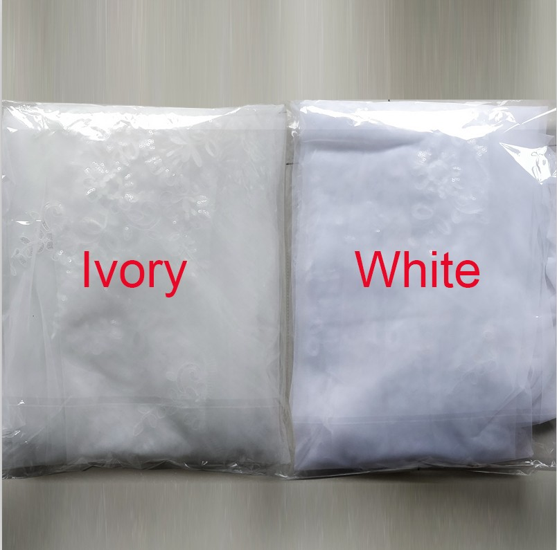 New Arrival White Ivory 2 layers Wedding Veils Long Lace Edge Bridal Veil 2020 Wedding Accessories Bride Veu Wedding Veil