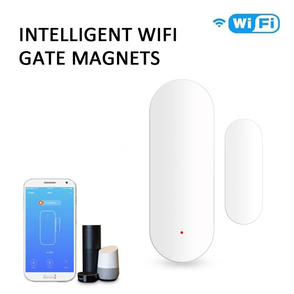 1set Smart Home Door Window Detector Sensor Security Burglar Alarm Smart WiFi Door Sensor Door Open / Closed Detectors