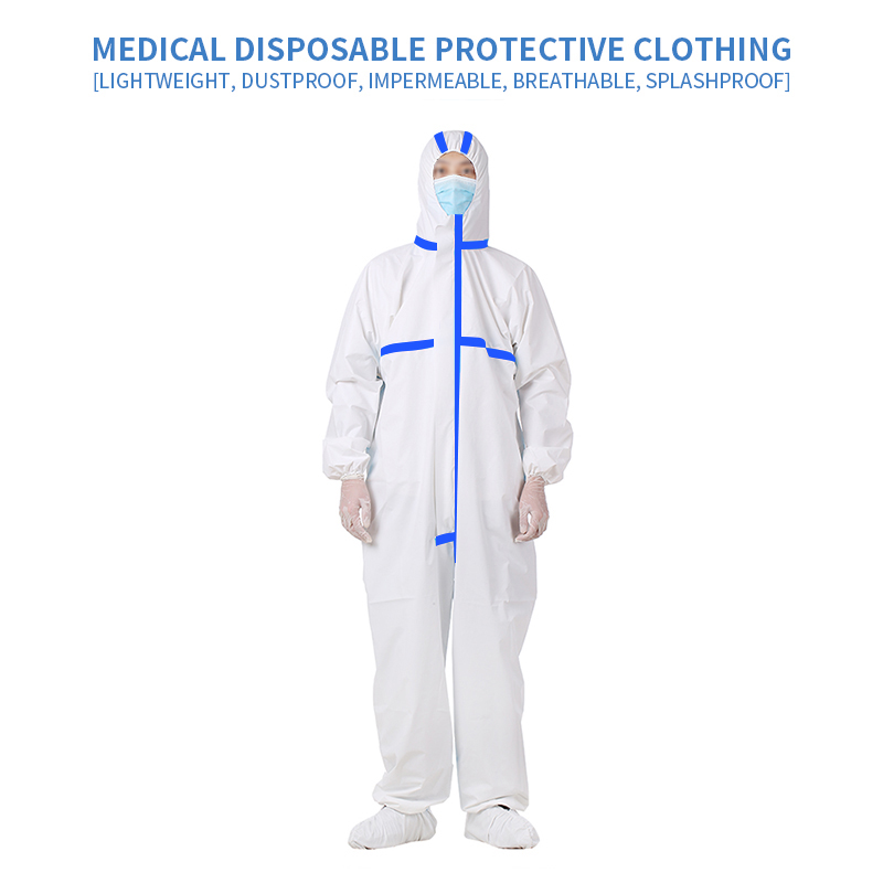 Disposable Protection Suit Work Wear Clothes Uniforms Gowns Suit Non Woven Dustproof Onesie New Workwear Clothing