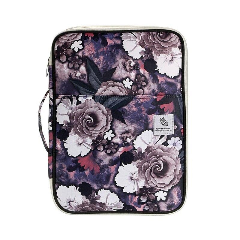 Multi-Function A4 File Bag Waterproof Travel Office Zipper Storage Bag Suitable For Notebook, Pen, File Storage