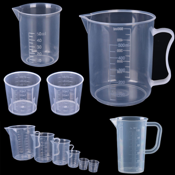 Clear Plastic Measuring Cup With Reinforced Handle Design For Baking Beaker And Liquid Measure