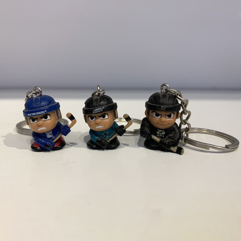 Hockey Player Keychain Pendant Sports Gift For Ice Hockey Fans Lover Souvenir Christams Gifts.