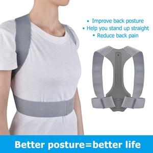 Image 3 - Brace Support Belt Adjustable Back Posture Corrector Clavicle Spine Back Shoulder Lumbar Posture Correction