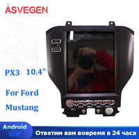 PX3 10.4 inch Vertical Screen Android Car Radio For Ford Mustang 2015-2019 GPS 4G WIFI BT Dvd player Stereo Navi Multimedia
