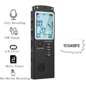 gh 200 lanse rechargeable digital voice recorder w 2000mah external battery power source blue Portable Digital Voice Recorder Voice Activated Digital Sound Audio Recorder Recording Dictaphone MP3 Player