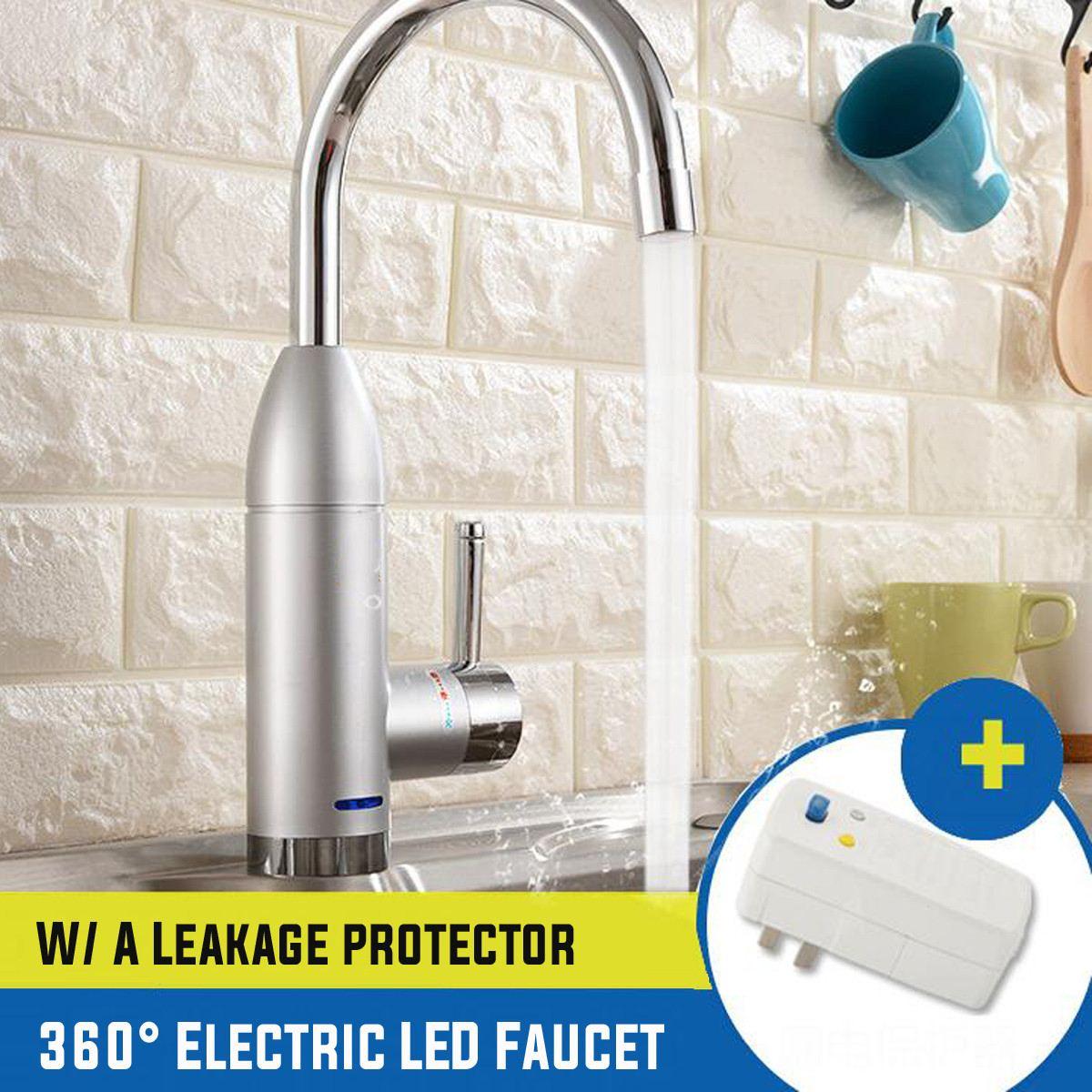 220V 3000W LED affichage instantané électrique chauffe-eau robinet maison cuisine bain 360 degrés chaud et froid mélangeur robinet chauffe-eau