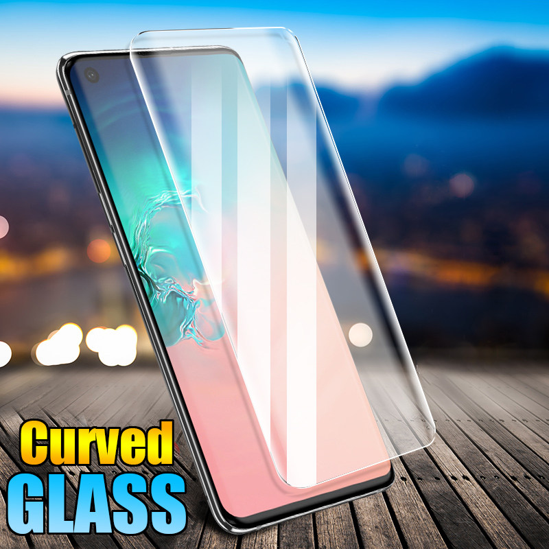 Curved Tempered Glass For Samsung Galaxy S10 Plus Screen Protector For Samsung Galaxy S9 Plus Glass S8 Note 8 9 10 S10E Film