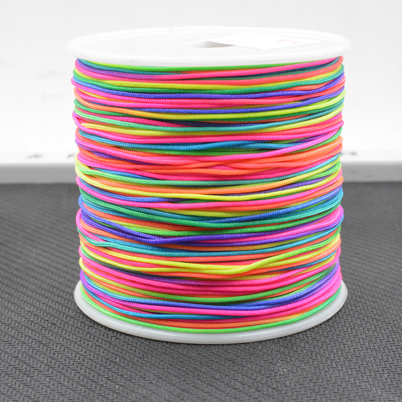 Mix Colors Jewelry Accessories Cord DIY Making For Bracelet Necklace 0.8mm 100Yards None Elastic Colored Nylon Thread Cord