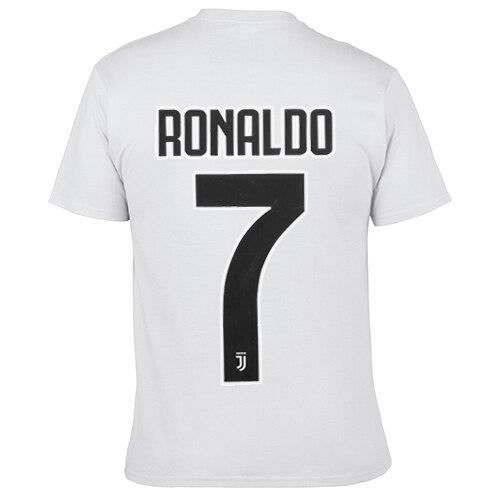 2019 New Men T-shirts Short Sleeved 100% Cotton Printed Ronaldo Jersey Tshirt Men Fitness Tops Tees European Size