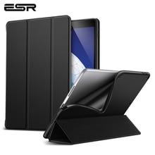ESR Smart Fall für iPad Air 3 2019 Folio Ultra Slim Flexible TPU Rebound Zurück Abdeckung Gummierte Beschichtung Fall für iPad Air 2019