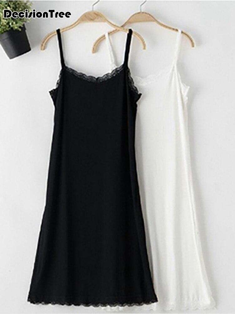 2019 mulheres branco petticoat deslizamentos completos senhoras vestido intimates desgaste interior sexy underdress underskirt femme