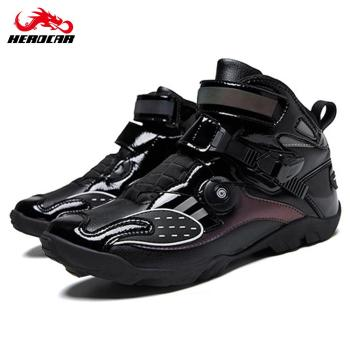 Brown Motorcycle Boots Moto Riding Boots Motocross Shoes Reflective Motorcyclist Motor Bike Motorbike Touring Ankle Shoes Biker probiker ankle leather motobotinki motorcycle boots men racing bota moto motor bike shoes motorboats for motocross black
