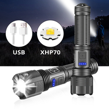 Tactical Flashlights Xhp50.2-Lamp Xhp70.2 Led 4core 600000LM for Adventure 5mode Use18650batteries