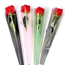 50 sztuk/partia papier pakowy do kwiatów Rose kwiaciarnia papier pakowy pojedyncze kwiaty róży prezent na ślub kwiatowy opakowania