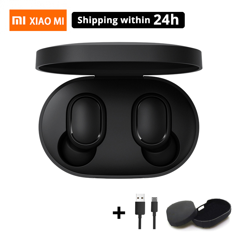Original Xiaomi Mi Redmi AirDots TWS Wireless Bluetooth Earphone Stereo Bluetooth 5.0 Mini Headset With Mic Earbuds