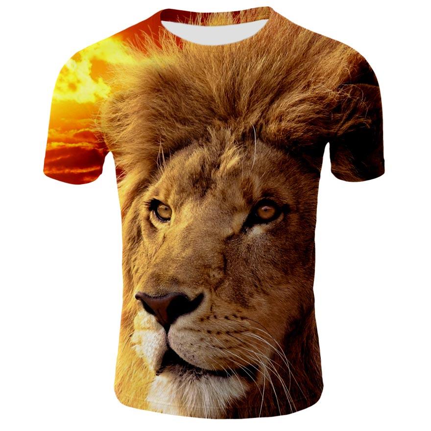 Camiseta con estampado de animales para hombre, camiseta 3D, ropa deportiva de moda de otoño, top urbano, novedad de 2021