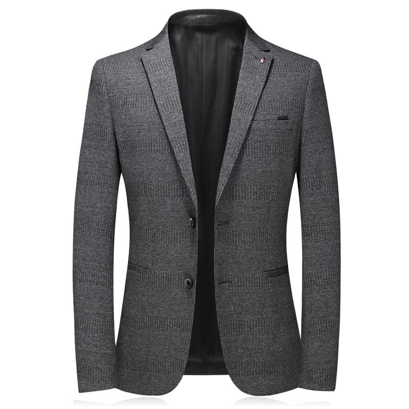 2020 New Brand Dark Gray Blazers Men Suits Single Breasted Good Quality Blaser Masculino Slim Fit