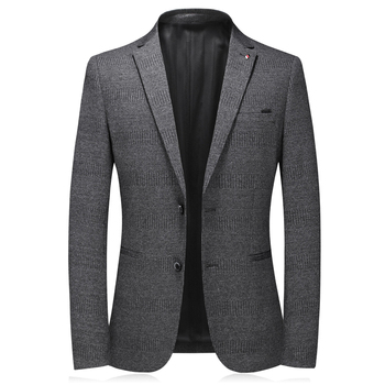 2020 new brand dark gray blazers men suits single breasted good quality blaser masculino slim fit