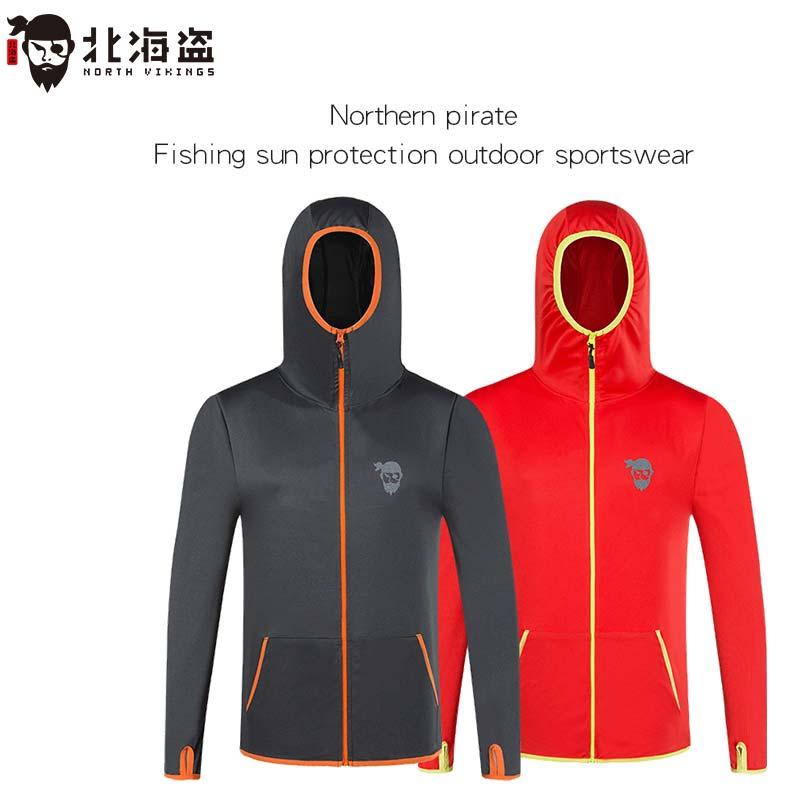 pirata do norte de pesca roupas de protecao solar ao ar livre de pesca com capuz