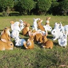 Pastoral Simulation Animal Statues Resin Rabbit Ornaments Outdoor Lawn Sculptures Figurines Home Villa Garden Decoration Crafts