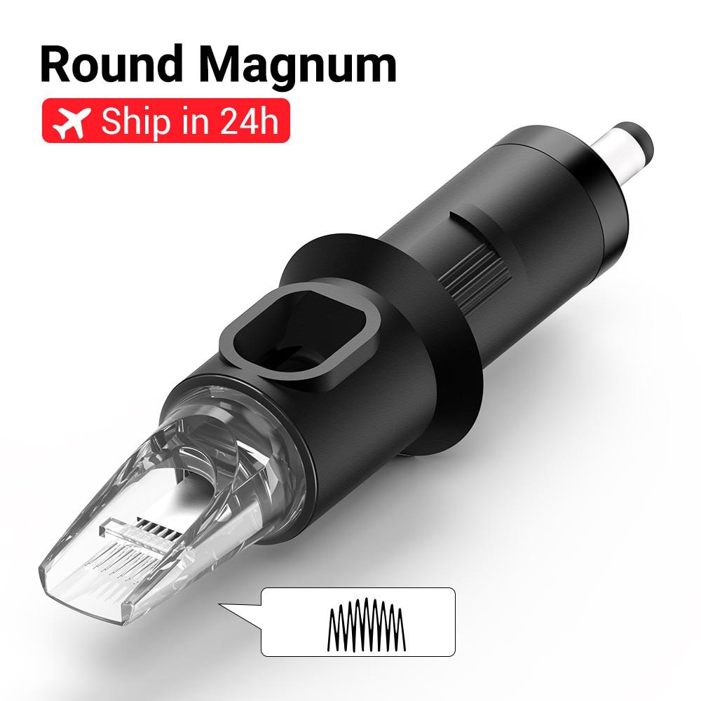 STIGMA Tattoo Needles Revolution Cartridge Curved Magnum Shader #12 (0.35mm needle) 1205RM 1207RM 1209RM 1211RM 1213RM 20pcs/box|Tattoo Needles|Beauty & Health - title=