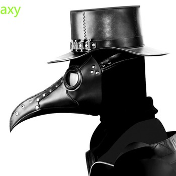 New Plague Doctor Mask Beak Doctor Long Nose Mascherine Cosplay Crow Gothic Retro Rock Steampunk Leather Maske for Halloween printio фартук с полной запечаткой x ray man