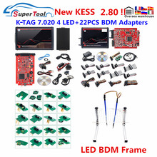 Newly KESS 2.80 V5.017 EU Red Online K tag 2.25 V7.020  OBD2 Auto Manager Tuning Kit K tag 7.020 4 LED Car ECU Programmer Tool