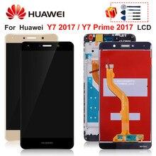 Para huawei y7 prime 2017 lcd y7 2017 trt-tl00 lx1 l21x lx3 display toque digitador da tela peças de reposição desfrutar 7 mais