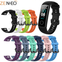New Silicone sport fashion Watch Strap For Huawei Honor Band 4 Smart Accessories Wristband Strap For Honor Band 5 Bracelet youkex 2017 new strap for huawei honor band 3 replacemnt fashion sport silicone band 6 colors for huawei honor3 smart wristband