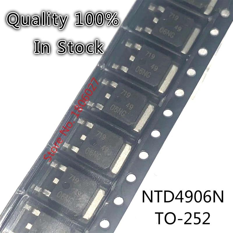 10 шт-50 шт NTD4906N TO-252 4906NG NTD4906 TO252 14A/30V N-channel MOS tube трубка с полевым эффектом
