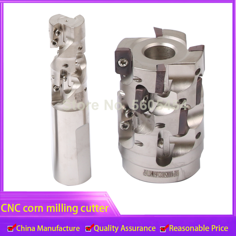 CNC corn milling cutter open rough spiral corn cutter machining center milling cutter bar end face right angle corn grain millin