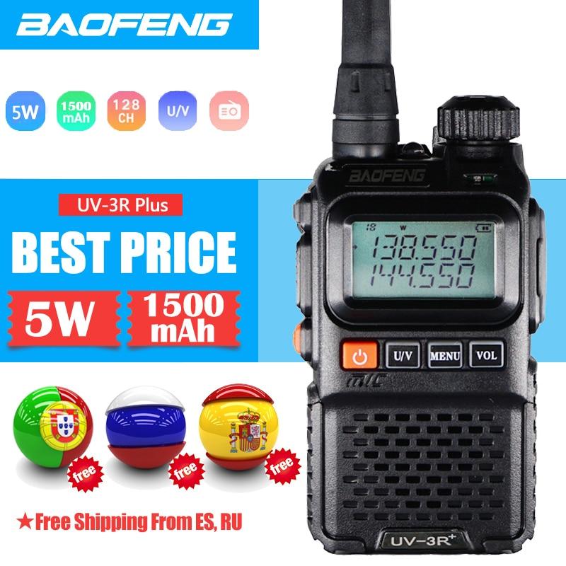 Рация BaoFeng UV-3R Plus Двухдиапазонный портативный Радиоприемник Ham UV-3R + радиоприемник Amatuer портативный fm-приемопередатчик двухстороннее радио ...