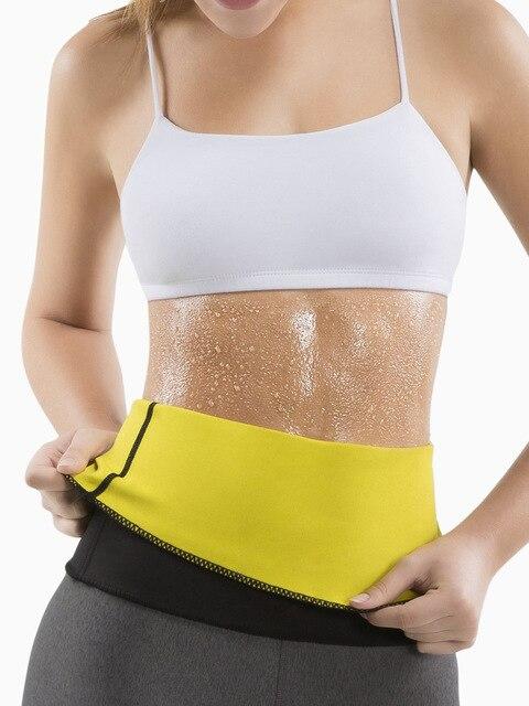Neoprene Sauna Women Waist Trainer Trimmer Belt Fat Burner Sweat Corset Body Shaper Ab Cincher for Workout Weight Loss 4